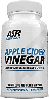 AS Research Apple Cider Vinegar PLUS - Extra Strength Detox, Cleanse, Weight Loss - 90 Capsules