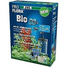 JBL ProFlora Bio80, 2 Bio-CO2-Düngeanlage mit erweiterbaren Diffusor für Aquarien von 30 - 80 l