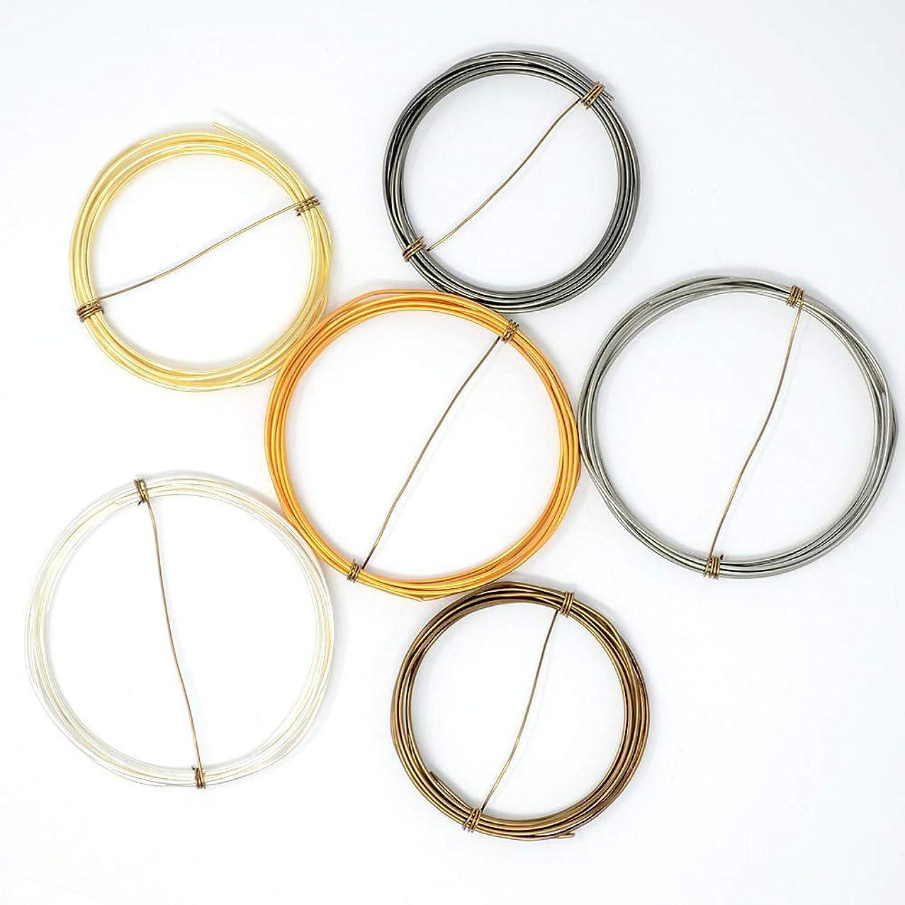 Metal Mix w/Silver - Enameled Copper Wire Spools – 18 Gauge - Bronze, Gold, Hematite, Silver, Titanium, Vintage Bronze - 5 feet of Each Color (30 Total feet)
