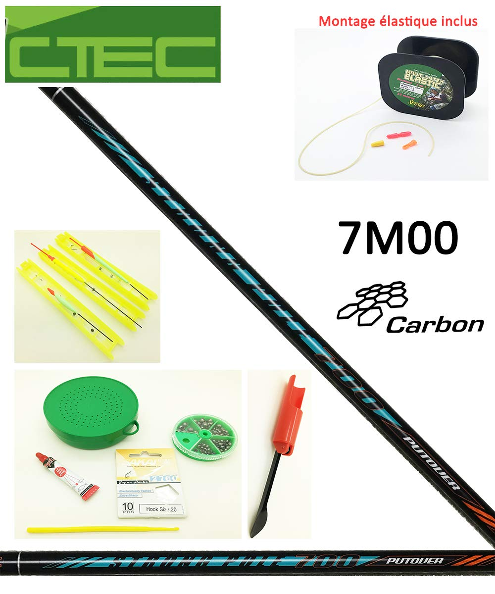 Millenium Pack de Inicio Pesca al Coup, caña 7 M00 + Montaje elástico + Accesorios Complets: Amazon.es: Deportes y aire libre