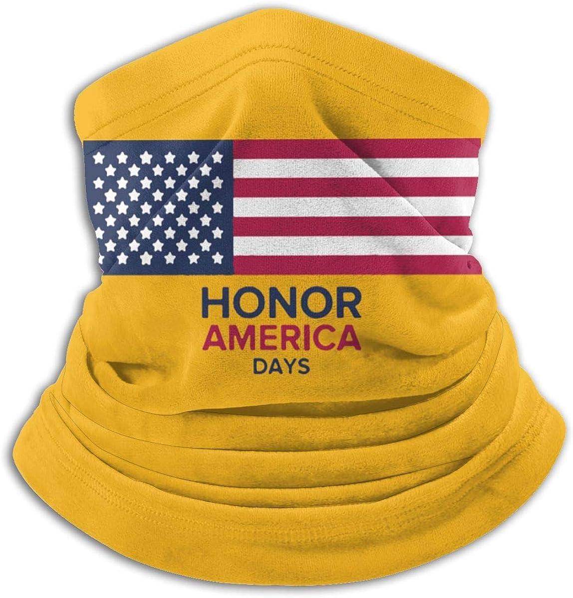 Honor America Days Black Multi-function Neck Warmer Gaiter Polyester Neck Warmer Windproof Winter Neck Gaiter Cold Weather Scarf For Men Women