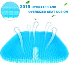 Vodche Large Gel Seat Cushion, New Upgrade Wheelchair Cushion with Non-Slip Cover Breathable Honeycomb Design Relief Back Pain Egg Seat Cushion Pad fits for Office Chair and Car,Wheelchair