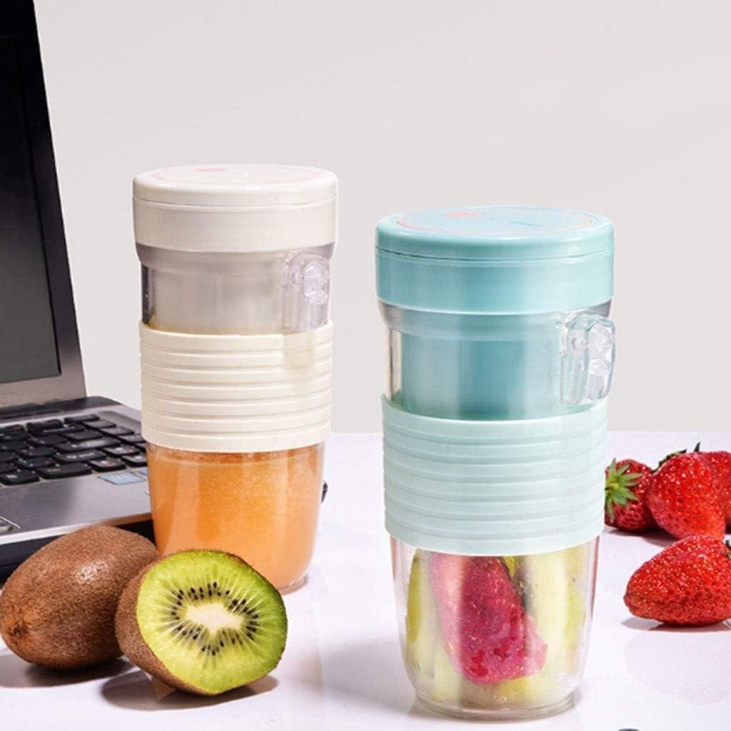 Portable Juicer Personal Blender Mini Cup Juicer Juicer rechargeable Coupe de paille Smoothies Et Shakes Mixer Fruit électrique (Couleur: B) FDWFN (Color : B) A