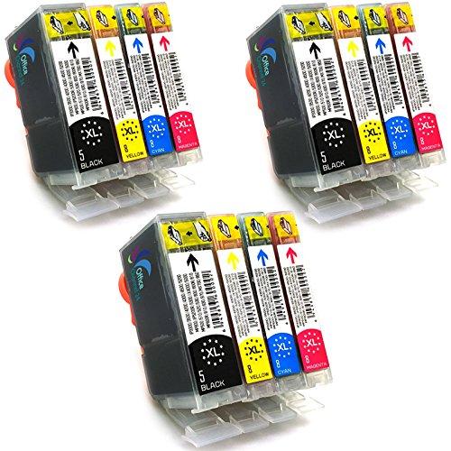 12 x Office Channel24 Druckerpatronen kompatibel für Canon PGI-5 CLI-8 mit Chip für Canon Pixma IP3300 IP3500 IP4200 IP4200X IP4300 IP4500 IP4500X IP5200 IP5200R IP5300 IX4000 IX4000R IX5000 MP500 MP510 MP520 MP520X MP530 MP600 MP600R MP610 MP800 MP800R MP810 MP830 MP970 MX700 MX850
