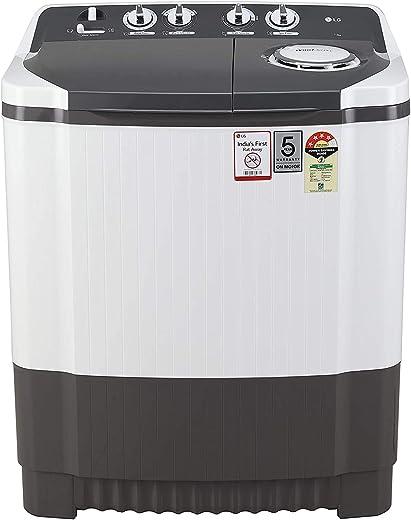 LG 7 Kg 4 Star Semi-Automatic Top Loading Washing Machine (P7020NGAY, Dark Gray, Collar scrubber) 1