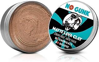 No Gunk - Argilla lavica opaca - 100% naturale per capelli da uomo - Tenuta forte - Ingredienti naturali e biologici...
