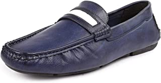 Bacca Bucci® Mens Loafers-Italian Dress Casual Loafers for Men Slip-on Driving Shoe-Blue