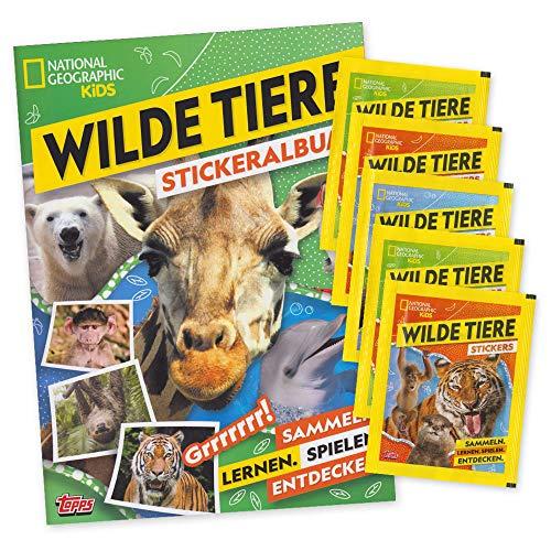 National Geographic Kids - Wilde Tiere - Sticker Album + 5 Booster - deutsche Ausgabe