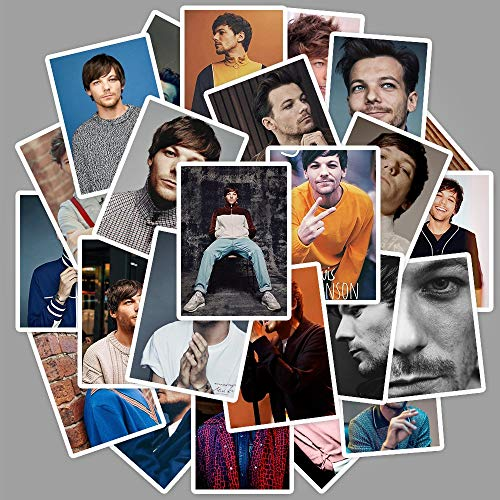 ZXXC 25Pcs Famous Singer Louis Tomlinson Poster Stickers For Luggage Laptop Fridge Guitar Room Decor Fans Collection Toy Stickers