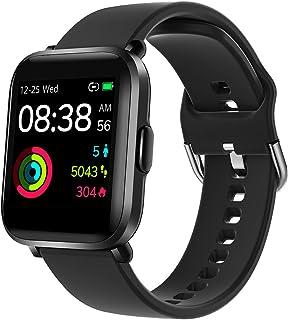 YONMIG Smartwatch, fitnesstracker, 18 sportlägen, 1,3 tums färgpekskärm, smartklocka med pulsoximeter, pulsklocka, 5 ATM v...