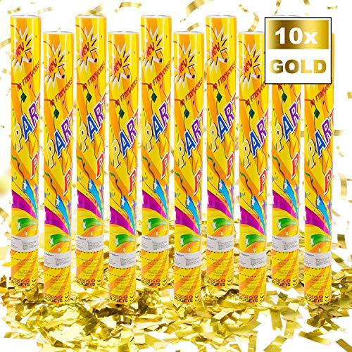 Confetti Kanon Confetti Shooter Party Popper Confetti Kanon - XL 60 cm - Goud