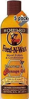 Howard Products FW0016 Feed-N-Wax ウッドポリッシュ 16 oz