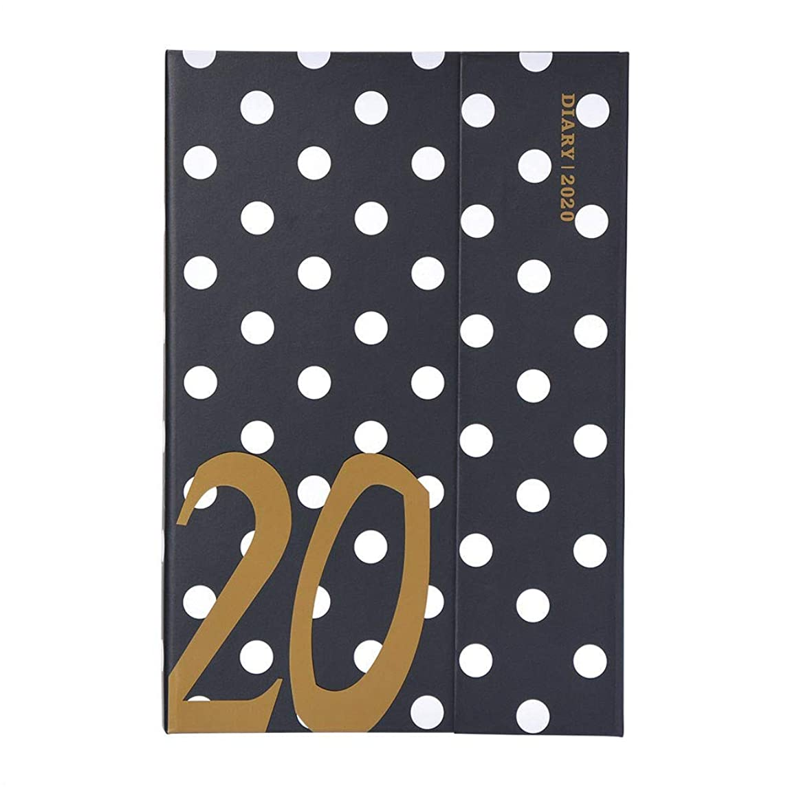 オークション代表するラテンマークス 手帳 2020 スケジュール帳 ダイアリー ウィークリー?レフト 2019年12月始まり B6変型 マグネット20?ドット ブラック 20WDR-CH07-BK