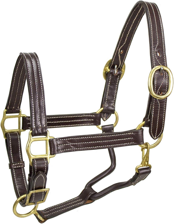 Derby Originals Triple Stitch Adjustable Leather Halters