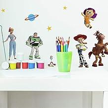 RoomMates RMK4008SCS Toy Story 4 Peel en Stick Muurstickers, Groen, Blauw, Geel