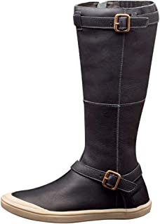 Oldlover✚ Tall Boots for Women Wide Calf Women's Flat Knee High Boots Zipper Closure with Buckle Fashion Riding Boots