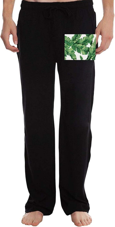 Vhlk07@P Men's Broad Coconut Be super welcome Popular Drawstrin Leaves Jogger Sweatpants