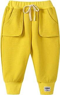 PAUBOLI Baby Boy Dinosaur Sweatpants Warm Fleece Lined Jogger Pants 2T-8T