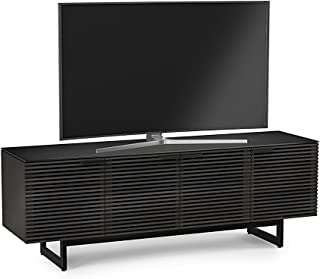 BDI 8179 CRL Corridor Quad TV Stand & Media Cabinet, Charcoal Stained Ash