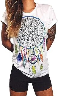 Women Blouse Casual Short Sleeve Printing Stylish Slim Fit Summer T Shirt Top Blouse 1 XX-Smalll