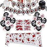 KOUQI Globo De Película De Aluminio, Cabeza De Calabaza, Murciélago, Araña, Globo, Fiesta De Globos De Placer Halloween Black bloodeye Drawing Flag Set