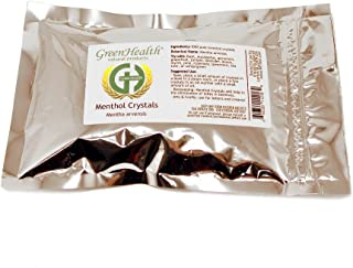 GreenHealth - 4oz - Premium Menthol Crystals 100% Natural by Greenals (Melting Point is Approximately 95 to 107 Degrees F)