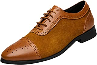 Sunyastor Men's Dress Shoes British Style Formal Leather Oxford Shoes for Men Casual Classic Modern Business Shoes