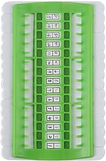 3 Farbe 30 Position Kreuzstich Zeile Werkzeug Nadeln Halter Stickgarn Thread Organizer Nähen WerkzeugeGreen