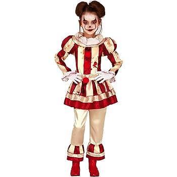 Horror-Shop Chica Payaso Sangriento Disfraz De Niña Payaso 5-6 ...
