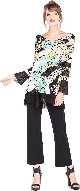 Eva Varro Long Sleeve Lace Combo Tunic