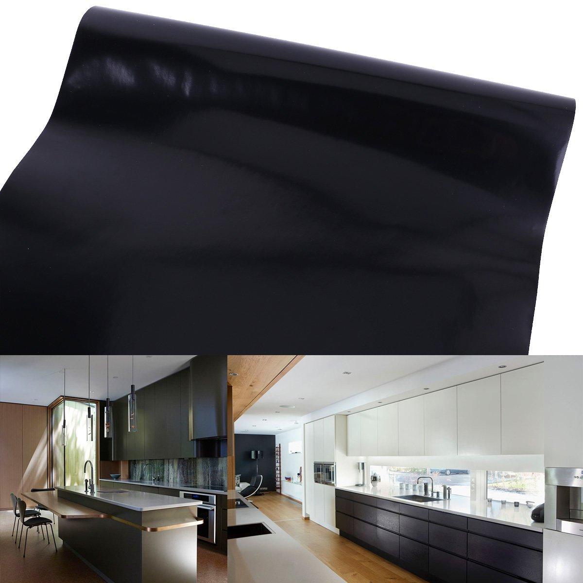 61 cm Rollo – 10 M (Metro) Negro auto-adhesivos Muebles pantalla para manualidades pantalla pantalla para plotter Armario pantalla decorativo pantalla pantalla: Amazon.es: Hogar
