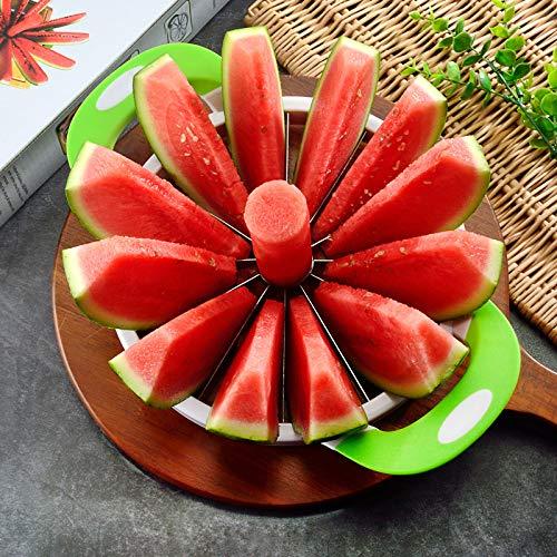 Neuer Groß Geschnittener Wassermelonenartefakt Wassermelonenschnitt Großer Rostfreier Hami-Melonenteiler Aus Rostfreiem Stahl