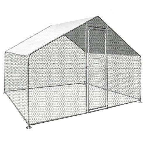 IDMarket - Enclos poulailler 6 m² Parc grillagé 3X2m Acier galvanisé