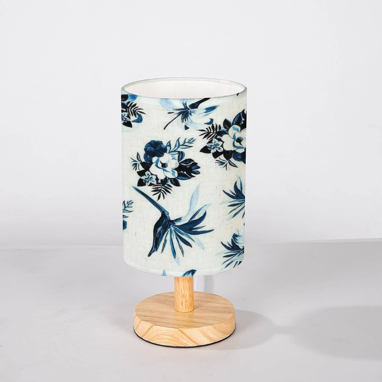 New product Minimalist New Orleans Mall Bedside Table Lamp Navy Indigo Seamless Pattern Leaf