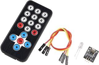 HALJIA Kit de Control Remoto por Infrarrojos módulo de Receptor de Infrarrojos IR Remoto Controlador Compatible con Arduino