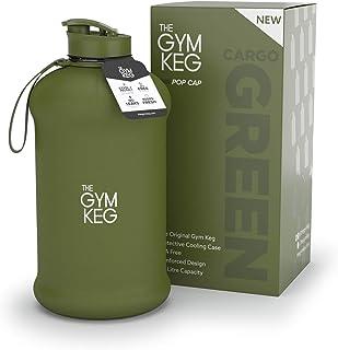 The Gym Keg Sports Water Bottle (2.2 L) Insulated   Half Gallon   Carry Handle   Big Jug Sport, 64oz Hydro Jug, Large Reusable Bottles   Ecofriendly, BPA Free Plastic, Leakproof
