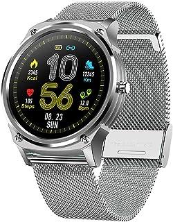 Rastreadores De Fitness, IP68 a Prueba de Agua y Polvo Reloj Inteligente Reloj Pulsómetro Presión Arterial Monitor De Sueño Calorías Reloj Contador De Pasos