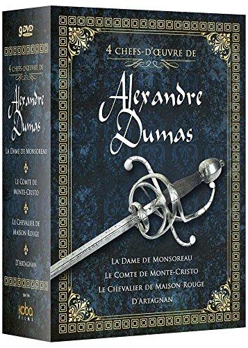 4 chefs-d'oeuvre de Alexandre Dumas: La Dame de Monsoreau + Le Comte de Monte-Cristo + Le chevalier de Maison Rouge + D'Artagnan [Francia] [DVD]