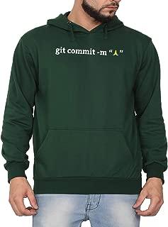 Swag Swami Unisex CottonGIT Commit Computer ProgrammingPrinted Hoodie | Hooded Sweatshirt