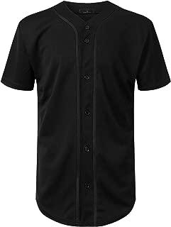 Mersenne Men's Baseball Jersey Button Down Short Sleeve Shirts