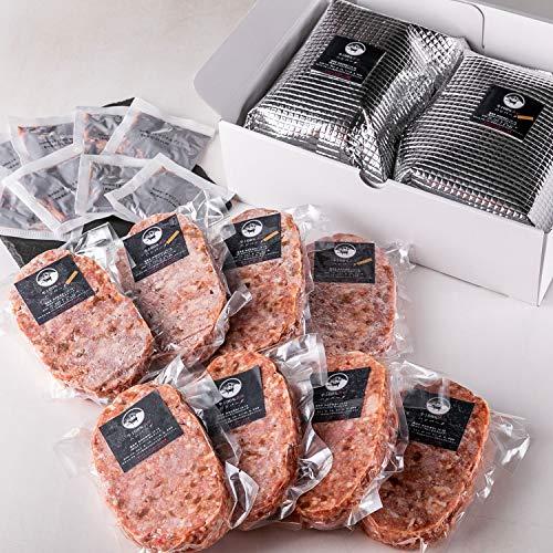 bonbori ( ぼんぼり ) 究極のひき肉で作る 牛100% ハンバーグ 詰め合わせ 8個入り 各200g [プレーン×4・チーズ入り×4] 無添加 / 冷凍ギフト/ お取り寄せ / 贈り物