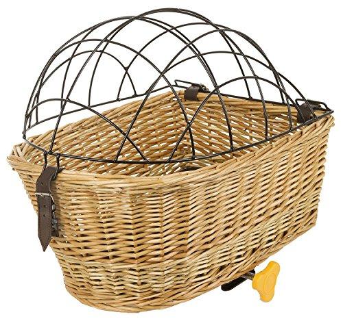 M-Wave Bicycle Wicker Pet Basket Rear Mount, 17 x 12 x 6.5 in