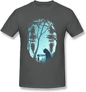 WSB Men's T-shirts Particular Anime Spirited Away Designed T-shirts Black