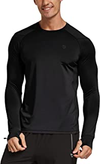 BALEAF Men's Quick Dry Running Workout Long Sleeve Shirts