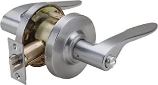 PDQ Grade 2 SD Heavy Duty Non-Handed Commercial Cylindrical Lever Lock Satin Chrome Finish 26D Memphis Lever (Privacy)