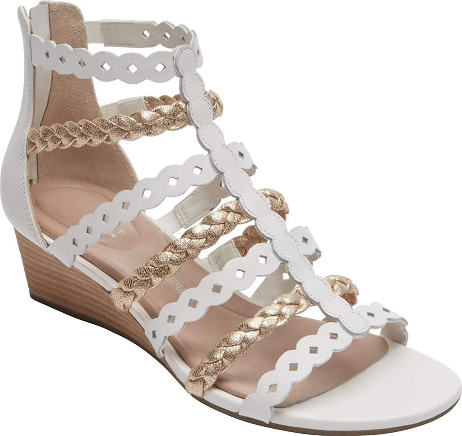 Rockport Womens Total Motion Wedge Gladiator Wedge Sandal