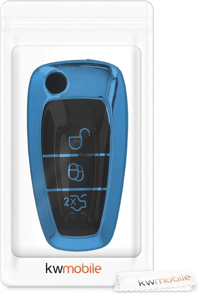 Rally Stripe kwmobile Key Cover Compatible with Ford