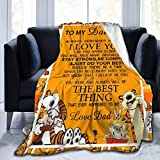 LALLRI to My Daughter Ca.lv-i-n and Ho-b-BES Fleece Throw Blanket Shaggy Cozy Reversible Sherpa Plush Blanket for Couch Bed and Living Room