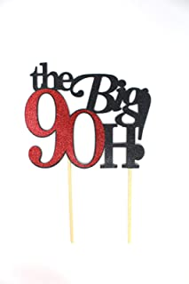 All About Details The Big 9OH! Cake Topper, 1pc, 90th birthday cake topper, 90th birthday party decoration Multi CATTB9O