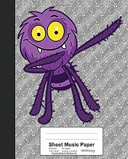 Sheet Music Paper: Dabbing Octopus Book (Weezag Sheet Music Paper Notebook)